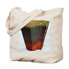 Geothermal power in the USA, artwork Tote Bag