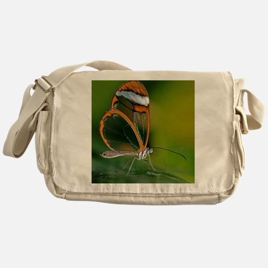Glasswing butterfly Messenger Bag