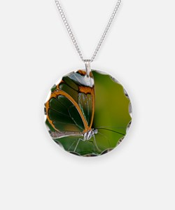 Glasswing butterfly Necklace