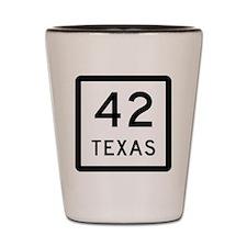 Texas 42 Shot Glass