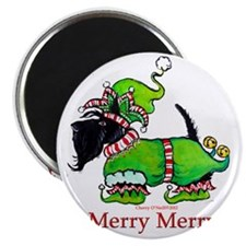 Merry Merry Scottish Terrier Magnet