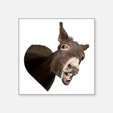 "Heart Donkey Square Sticker 3"" x 3"""