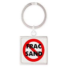 Stop Frac Sand Mining Square Keychain