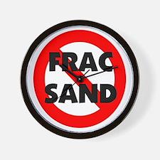 Stop Frac Sand Mining Wall Clock