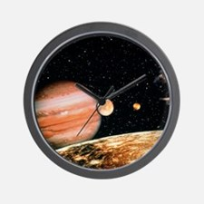 Jupiter and the Galilean moons seen fro Wall Clock
