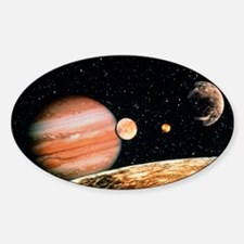 Jupiter and the Galilean moons seen Decal