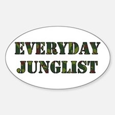 Everyday Junglist (Black Border) Oval Decal
