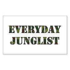 Everyday Junglist (Black Border) Sticker (Rectangu