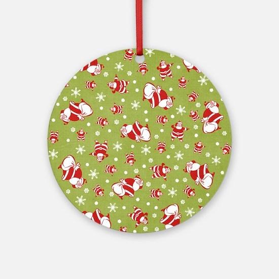 Santas Round Ornament