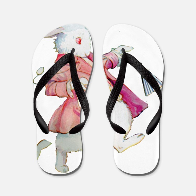 ALICE_and_the_rabbitx Flip Flops