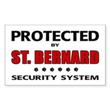 St Bernard Security Rectangle Decal