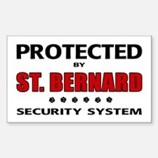 St Bernard Security Rectangle Stickers