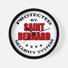 St Bernard Security Wall Clock