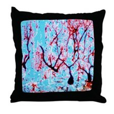 LM of cerebellar tissue with Purkinje Throw Pillow