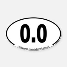 Running 13.1 Spoof 0.0 Oval Car Magnet