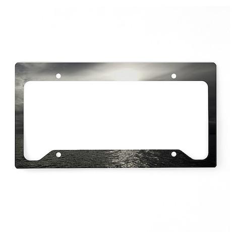 Moonlit sea License Plate Holder