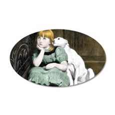 Dog Adoring Girl Victorian P Wall Decal