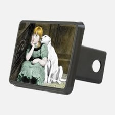 Dog Adoring Girl Victorian Hitch Cover