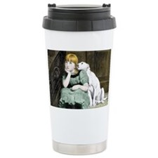 Dog Adoring Girl Victor Travel Mug