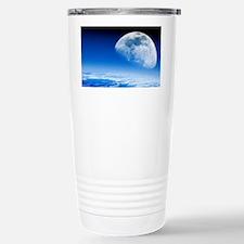 Moon rising over Earth' Stainless Steel Travel Mug