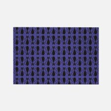 Purple and Black Goth Cat Pattern Rectangle Magnet