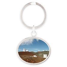 Mauna Kea telescopes Oval Keychain