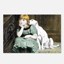 Dog Adoring Girl Victoria Postcards (Package of 8)