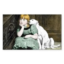 Dog Adoring Girl Victorian Pai Decal