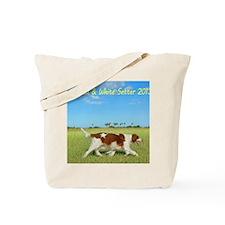 2013 Irish Red and white Setter Calendar Tote Bag