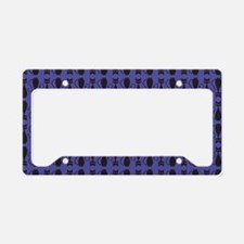 Purple and Black Goth Cat Pat License Plate Holder