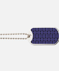 Purple and Black Goth Cat Pattern Dog Tags