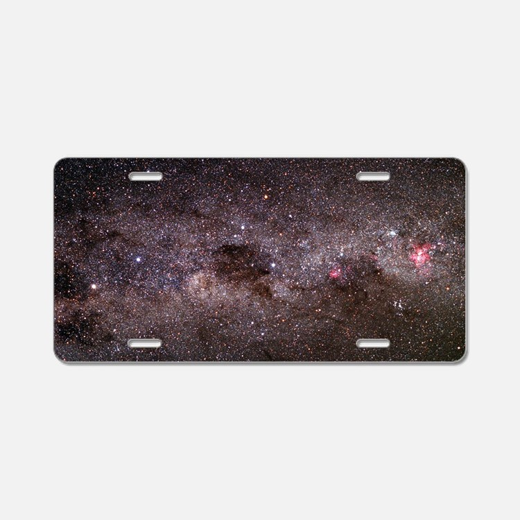 Milky Way Aluminum License Plate