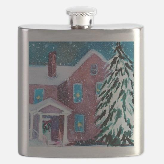 White Christmas Flask