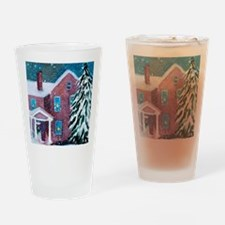 White Christmas Drinking Glass