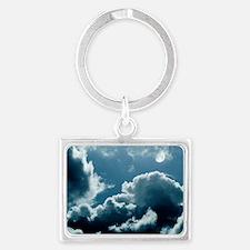 Moonlit clouds Landscape Keychain
