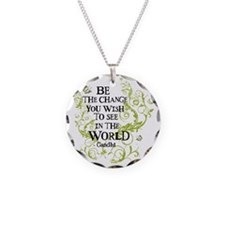 Be the Change - Green - Ligh Necklace