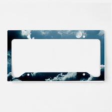 Moonlit clouds License Plate Holder