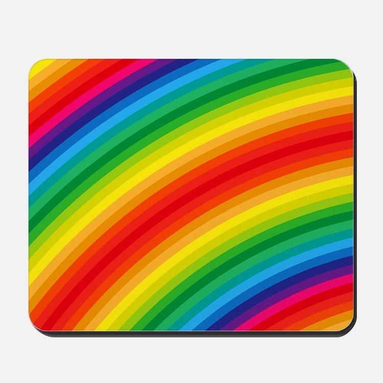 Rainbow Striped Pattern Mousepad