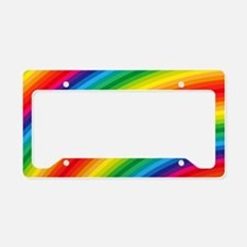 Rainbow Striped Pattern License Plate Holder