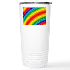 Rainbow Striped Pattern Thermos Mug