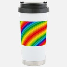 Rainbow Striped Pattern Travel Mug