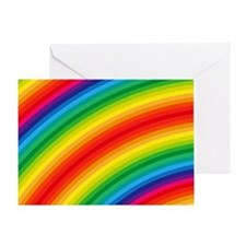Rainbow Striped Pattern Greeting Card