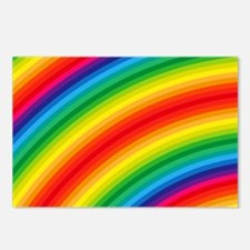 Rainbow Striped Pattern Postcards (Package of 8)