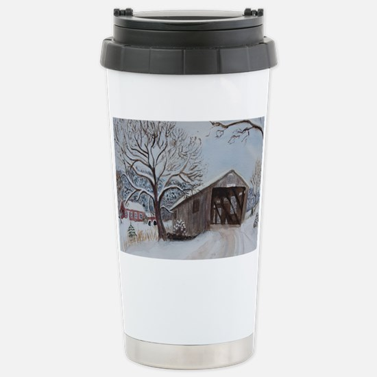 Covered Bridge Stainless Steel Travel Mug