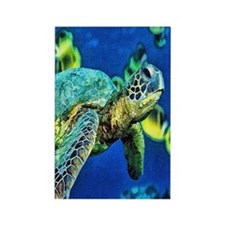 green sea turtle Rectangle Magnet