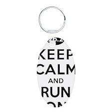 Keep Calm and Run On 26.2 Keychains