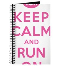 Keep Calm and Run On 13.1 Pink Journal