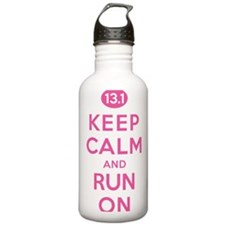 Keep Calm and Run On 1 Water Bottle