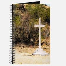 old white cross Journal