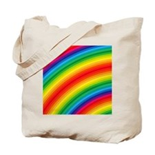 Rainbow Striped Pattern Tote Bag